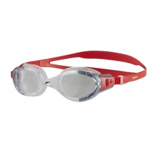 SPEEDO GOGGLES BIOFUSE FLEXISEAL MENS LAVA RED/CLEAR