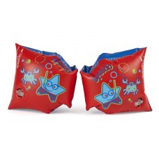 SPEEDO SEA SQUAD ARMBANDS JUNIOR - RED/BLUE